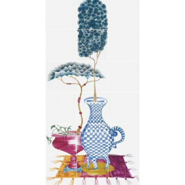 20×20 dekorativni set od keramike Cuban Veranda 4, Bardelli
