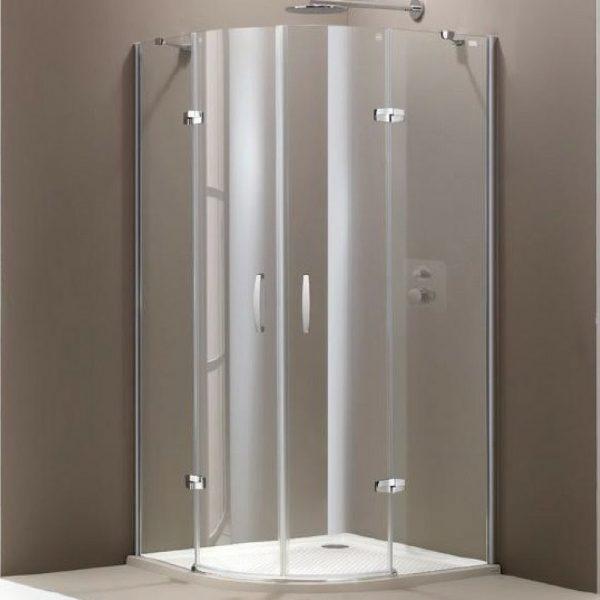 Aura 900×900 R550 anti-plaque polukružna kabina Huppe