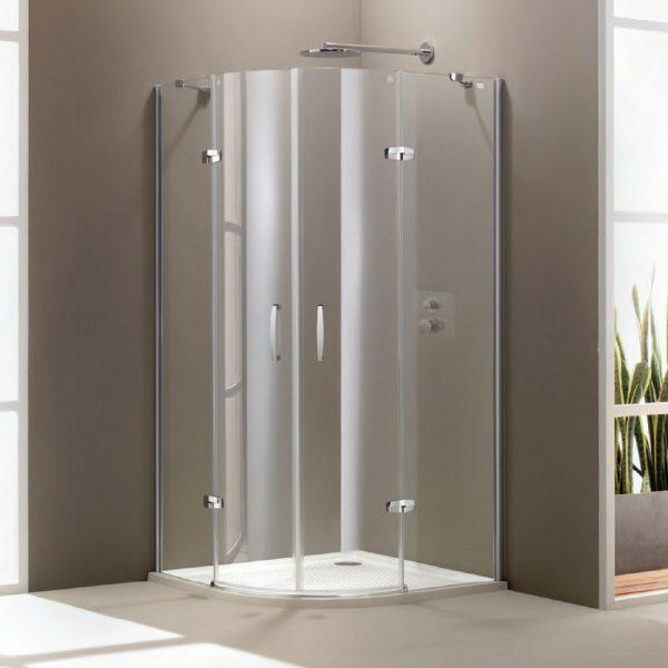 Aura polukružna swing vrata 900x900x1900,mat,anti-plaque