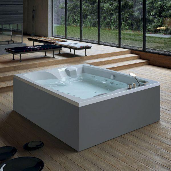 Hidromasažni bazen Glass Linea Duo dimenzija 190×160