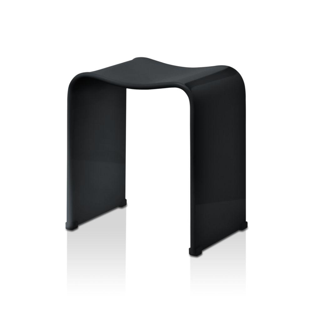 Stolica za tuš kabinu, crna, model DW 80, Decor Walther