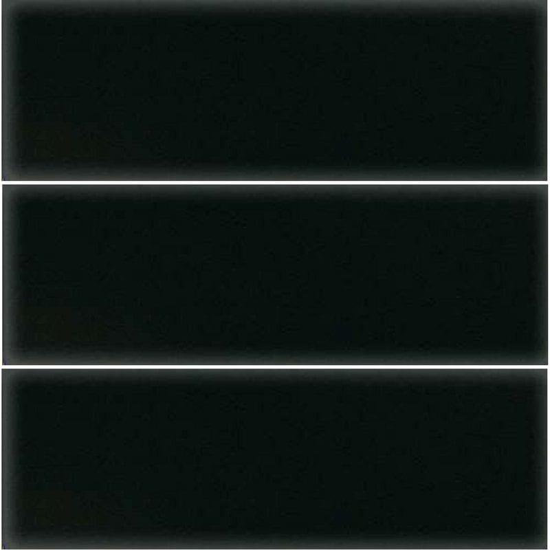 10×30 Polirana, sjajna, crna keramička pločica, Ce