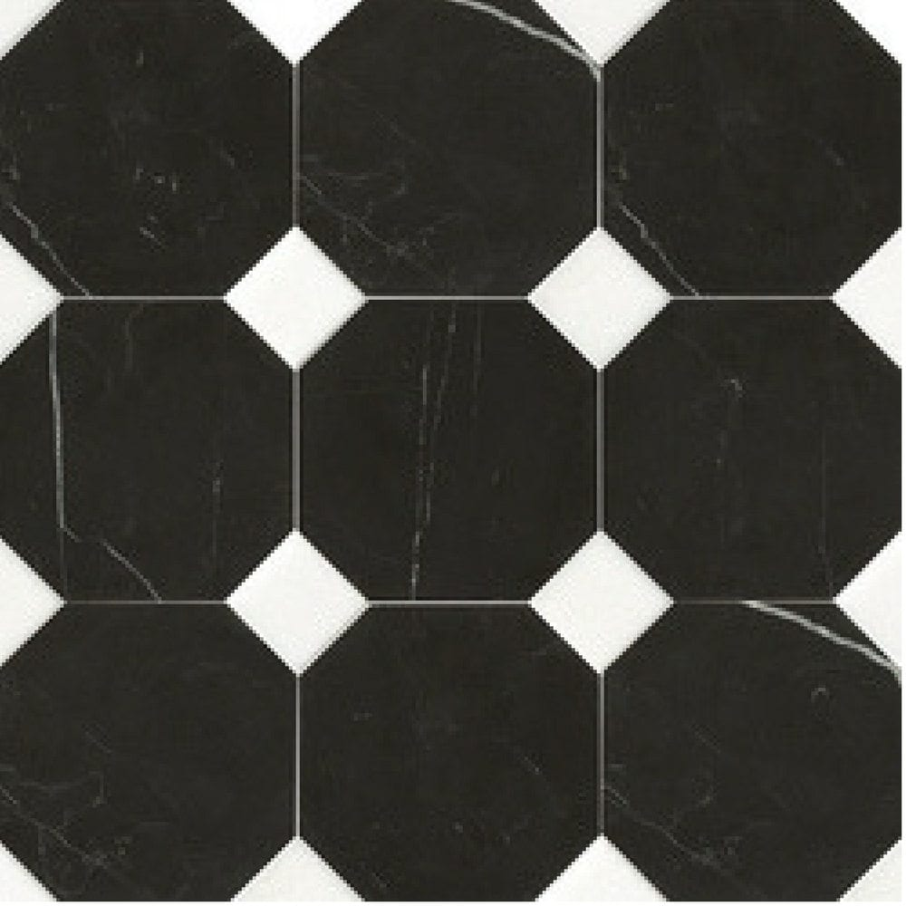 15×15 Osmougaone crne plocice, mermer, Devon&Devon keramika 1