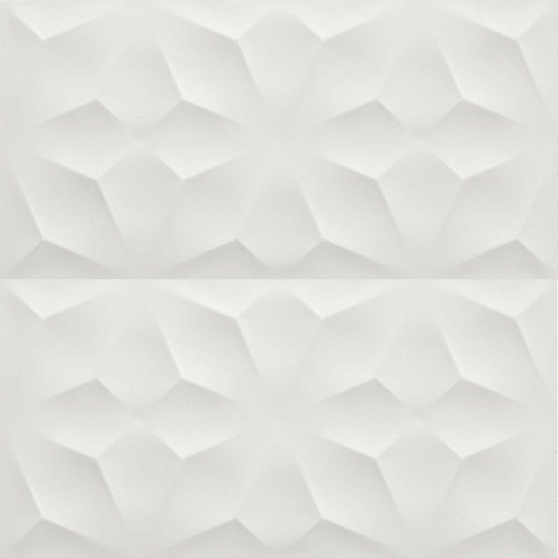 40×80 3D Wall Diamond White mat dekorativna zidna keramika Atlas Concorde 1