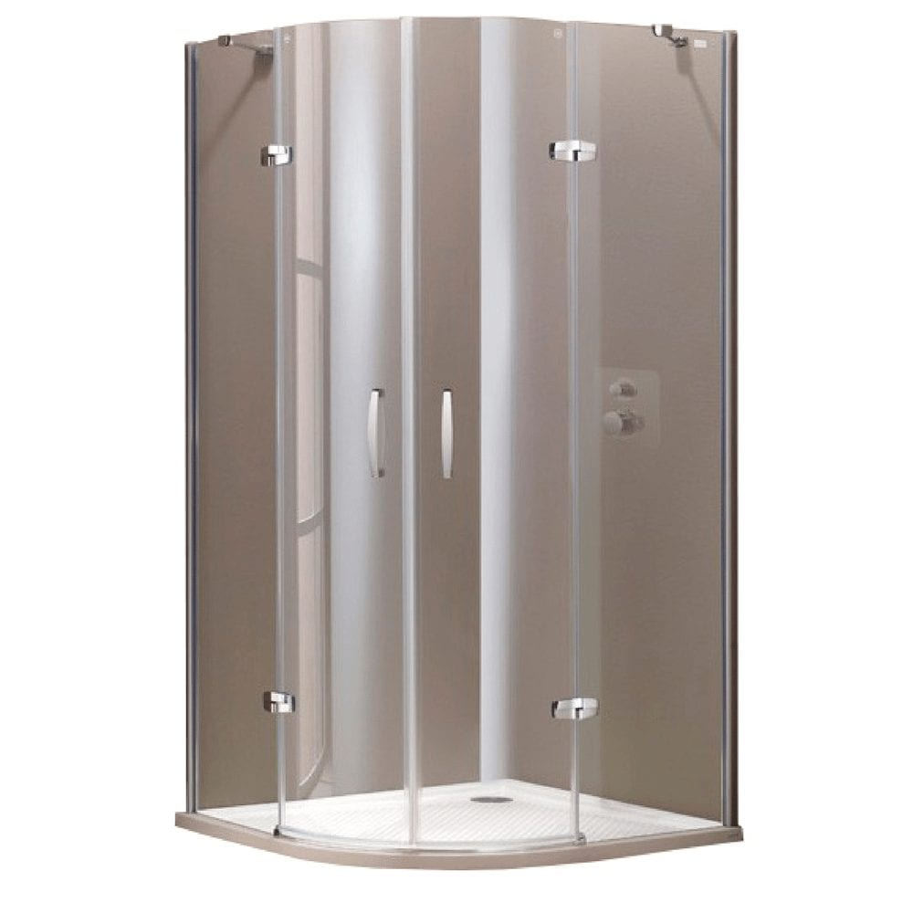 900×900 Aura Polukružna kabina, Swing vrata, visoki sjaj, anti-plaque 1