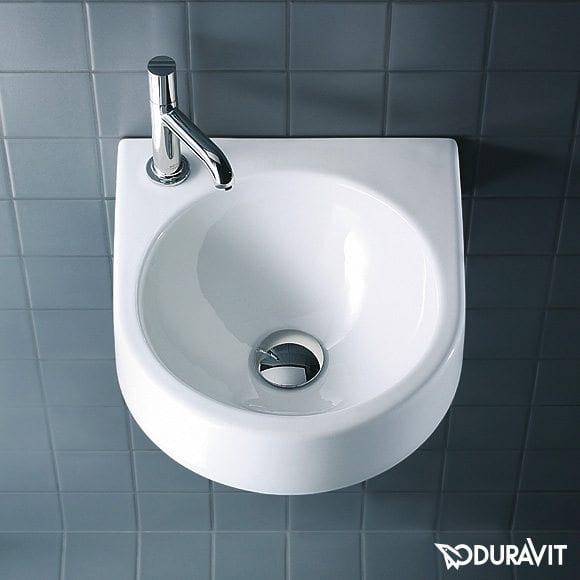 Architec lavabo prečnika 360 mm, bez preliva, beli, Duravit 1
