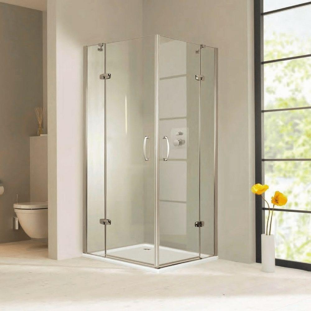 Aura Četvrtasta 800×800, visina1900, pivot vrata, anti-plaque staklo, visoki sjaj 1