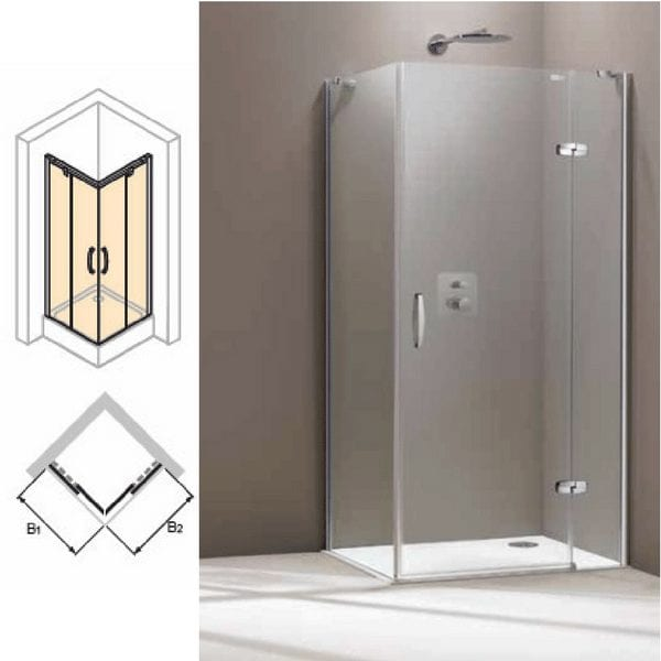 Aura Četvrtasta kabina, klizna vrata, 800×800 mm, high-gloss, soft close, anti-plaque 1