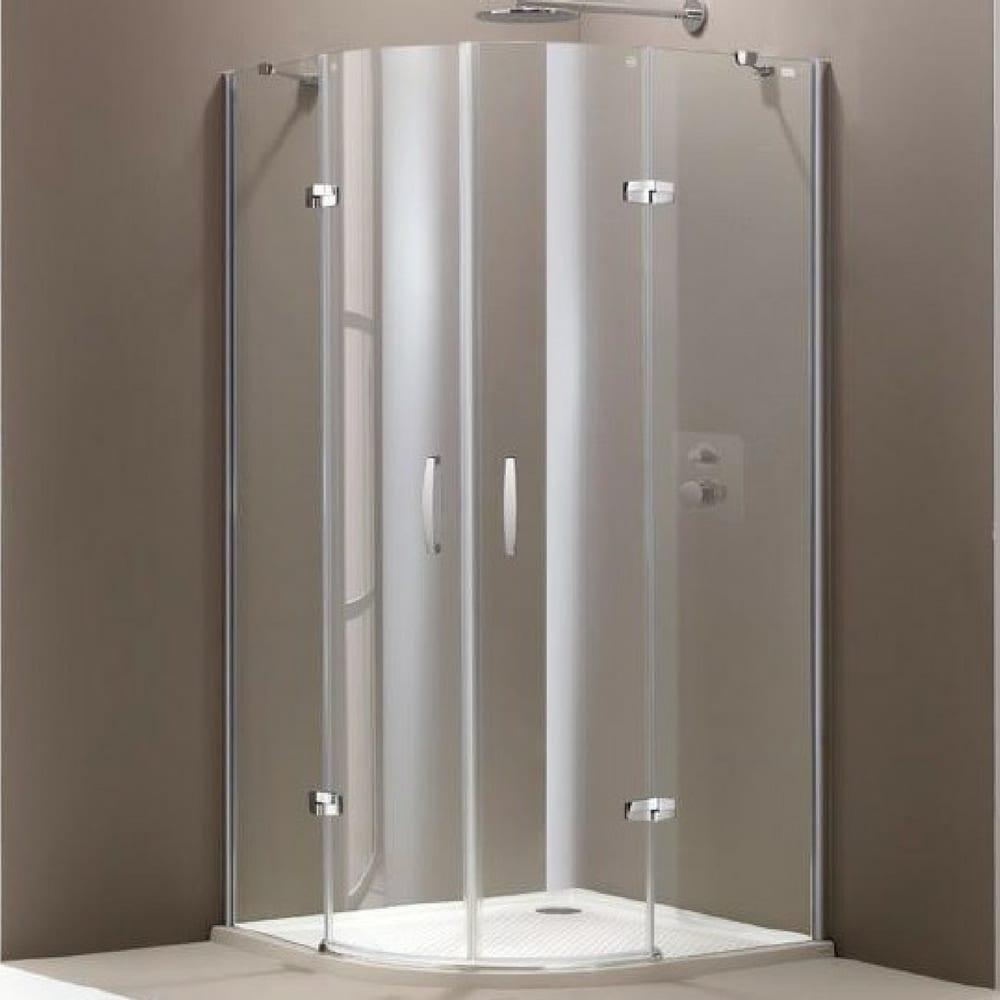Aura 900×900 R550 anti-plaque polukružna kabina sa GLASS KADICOM 1
