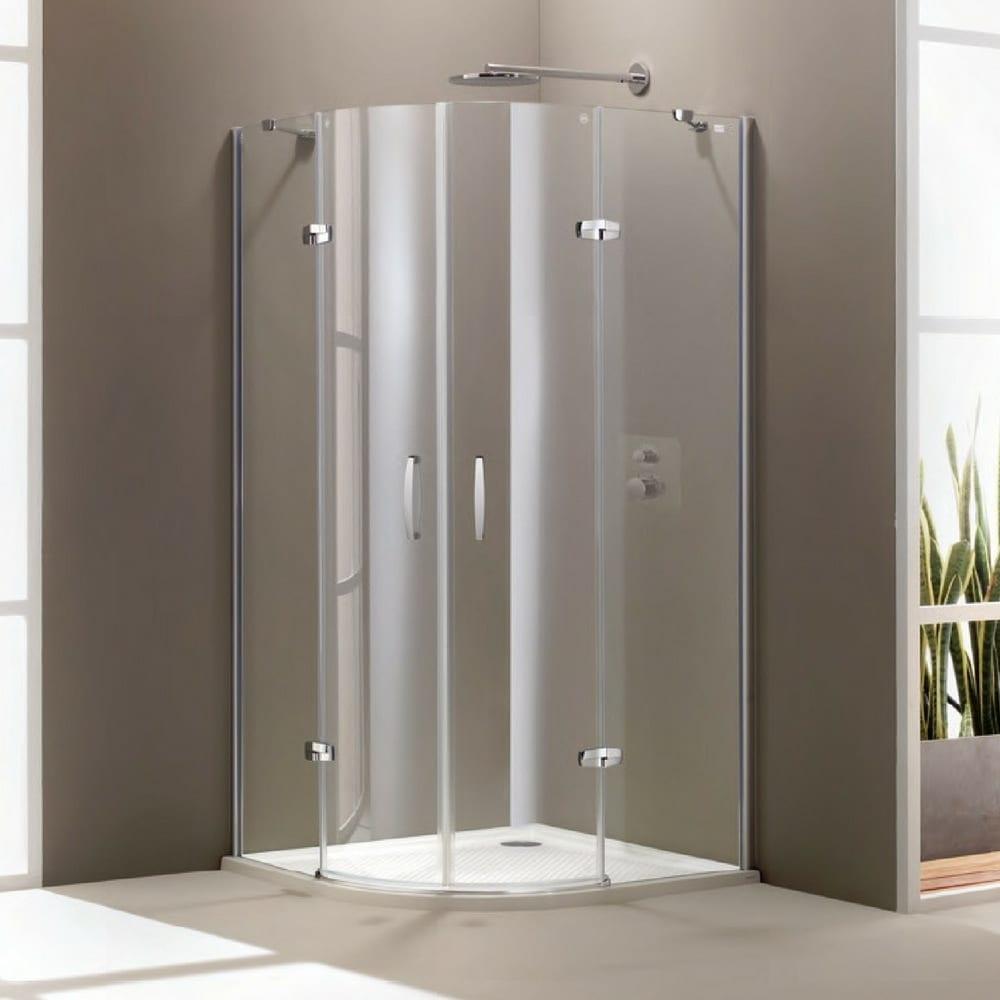 Aura polukružna swing vrata 900x900x1900,mat,anti-plaque 1