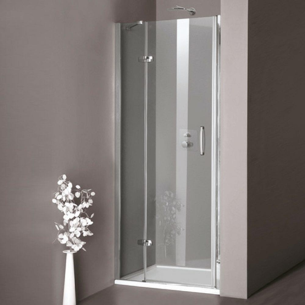 Aura tuš kabina Swing vrata u niši 900x1900mm leva fiksna, visok sjaj, anti-plaque 1