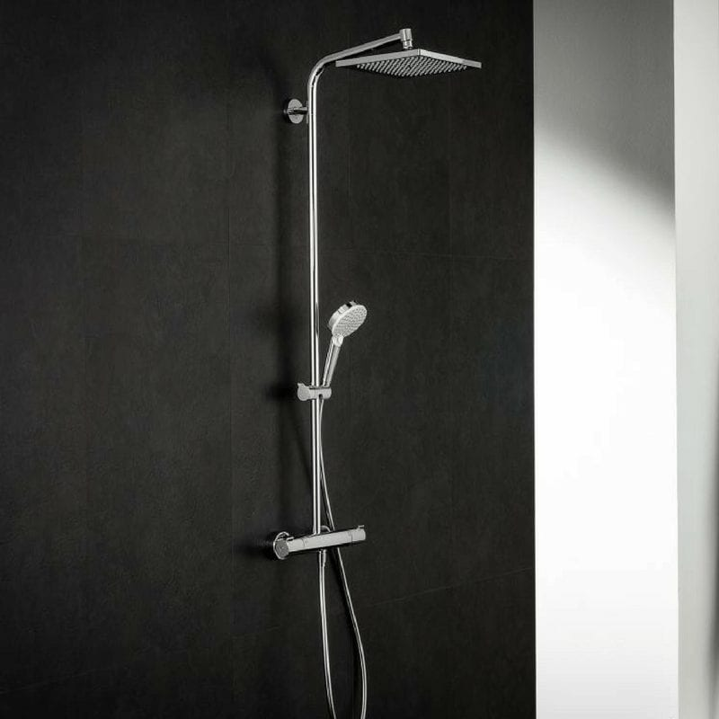 crometta e 240 1 jet showerpipe akvabutik salon fine. Black Bedroom Furniture Sets. Home Design Ideas