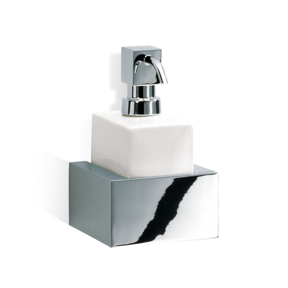 Dozator za tečni sapun, konzolni, BK WSP BRICK, bela-hrom, Decor Walther