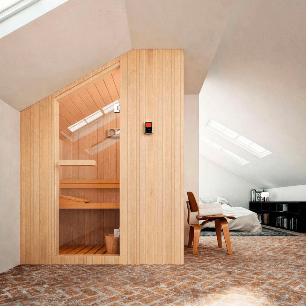Finska sauna Nuvola 133×100 cm za dve osobe Glass 1