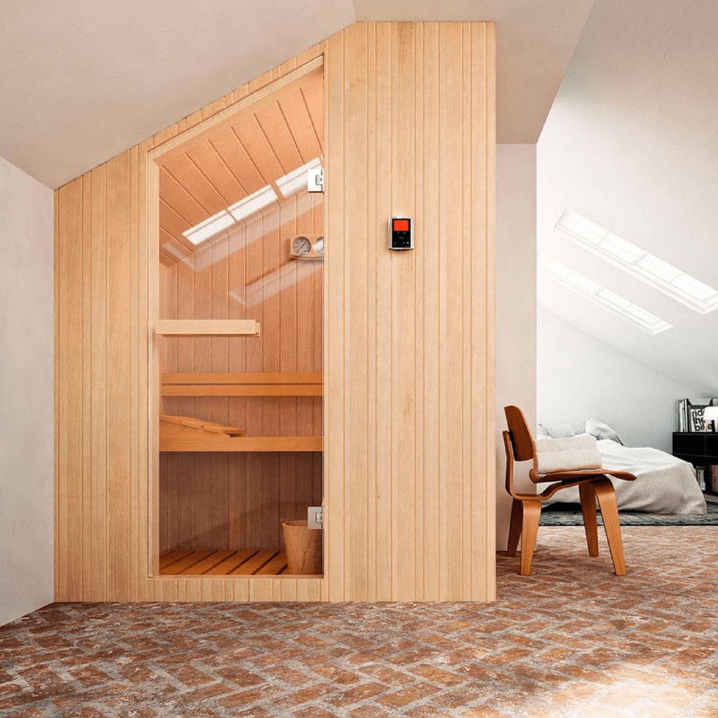 Finska sauna Nuvola 176×144 cm za 4 osobe Glass 1