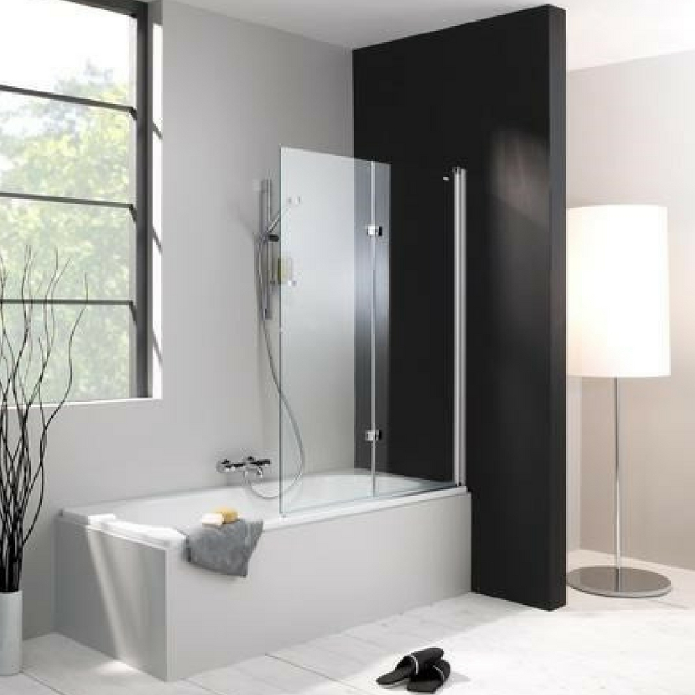 Huppe Design pure bath screen 1000 1500 mm matt profil anti plaque desno fiksiranje