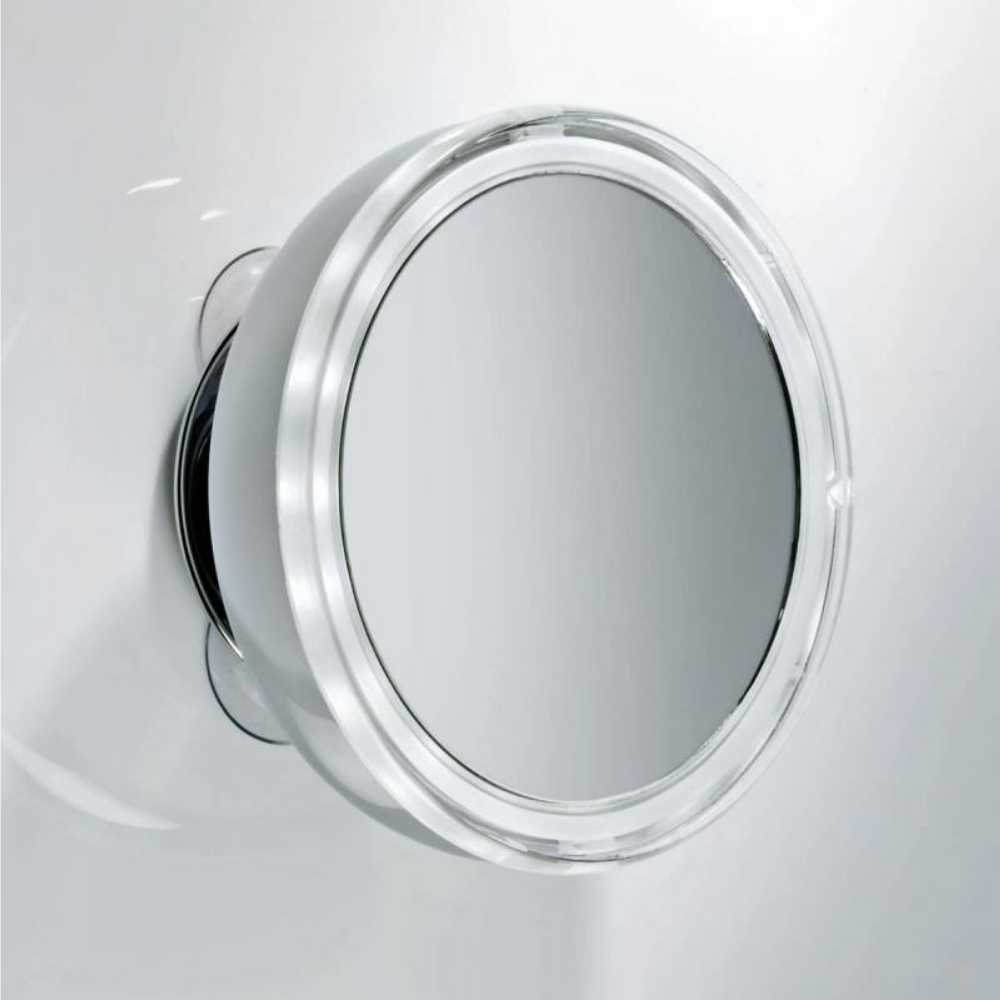 Kozmetičko ogledalo, prenosivo, 5x uvaćanje, Led osvetljenje, BS 10, hrom, Decor Walther