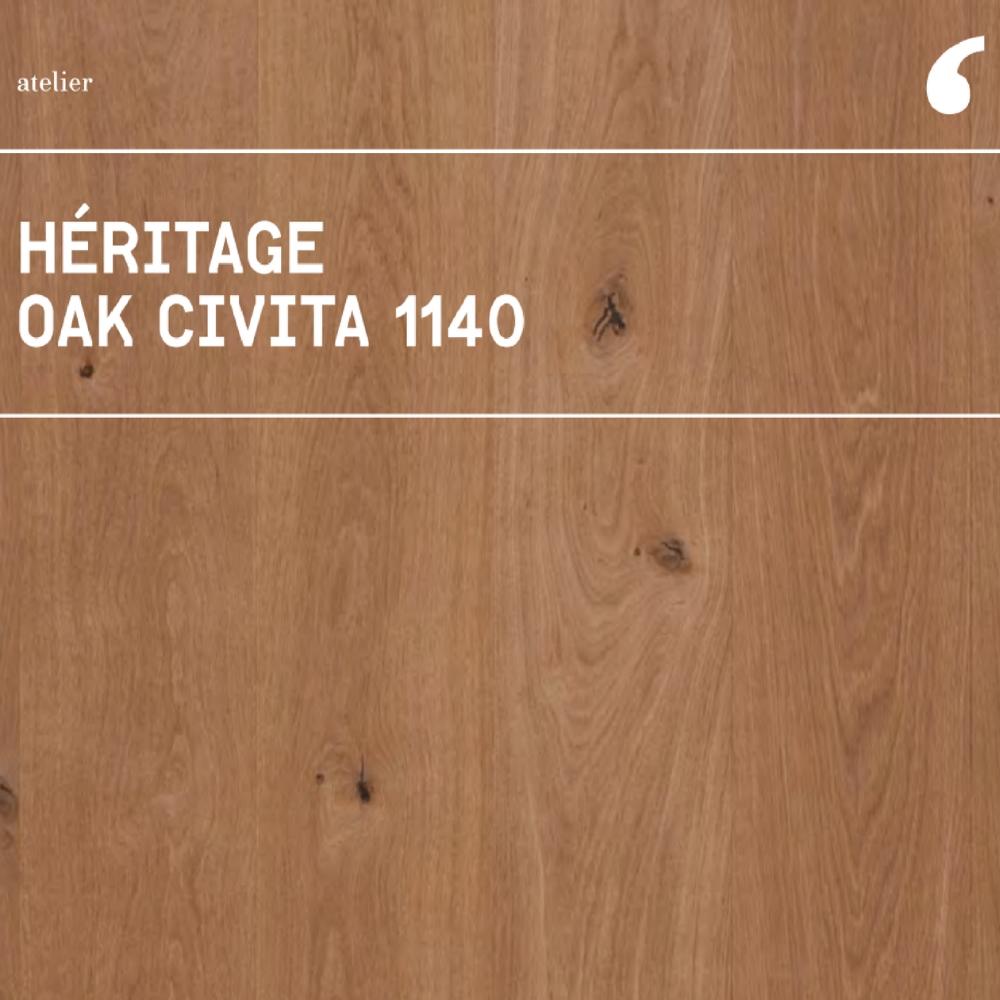 Parket od hrasta Civita 1140 Heritage Traccia 140 Invisible Touch, Listone Giordano