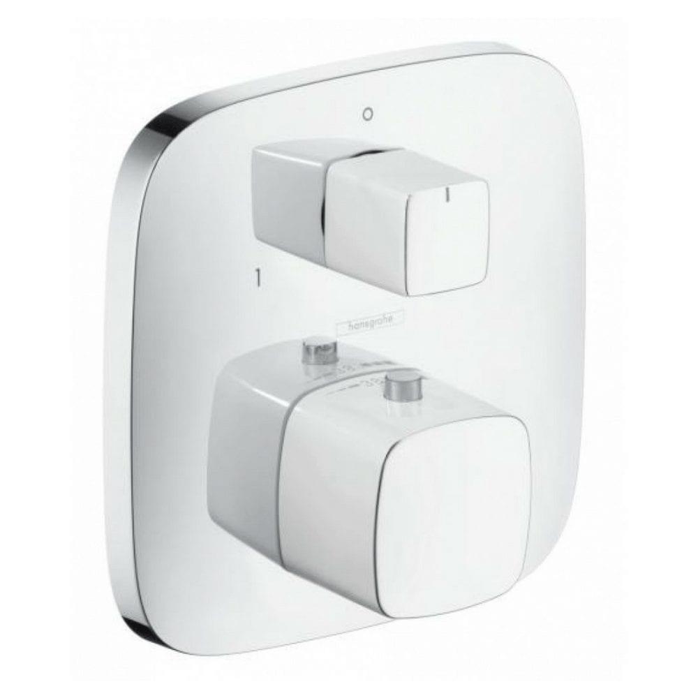 Pura Vida termostatski mešač sa prebacivačem bela hrom 1