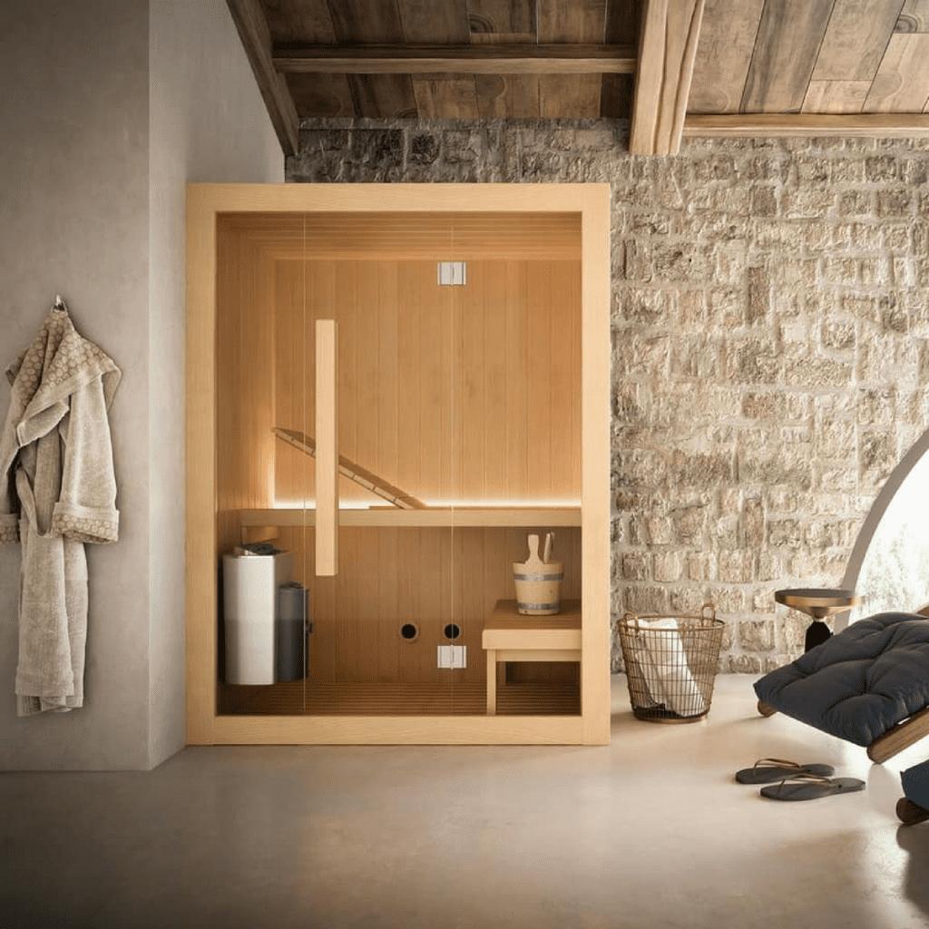 Sauna Hoshi 150×135 cm za 2 do 3 osobe Glass 1