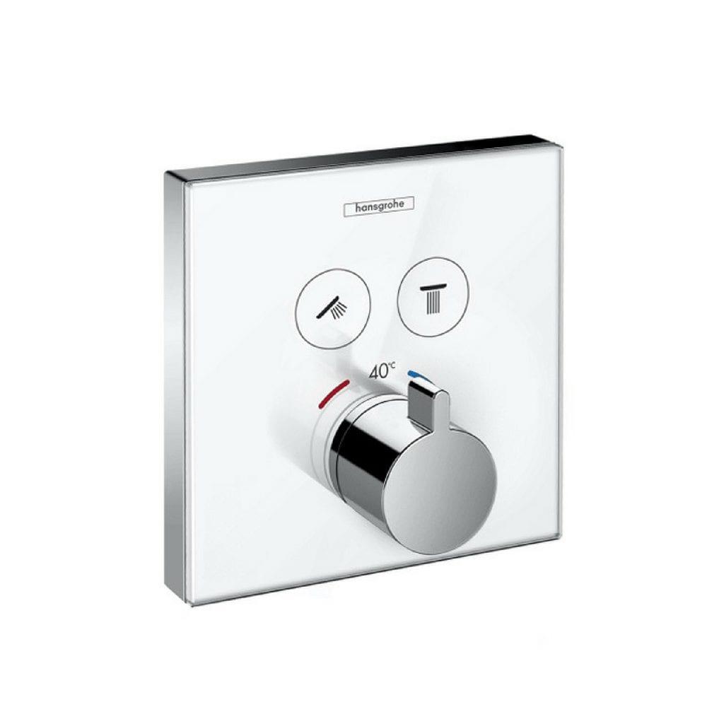 Termostatski mešač ShowerSelect sa dve funkcije, Belo Staklo 1