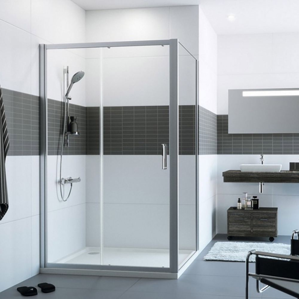 Tuš kabina Huppe, klizna vrata sa jednim fiksnim panelom, širina 120 cm, visina 200 cm