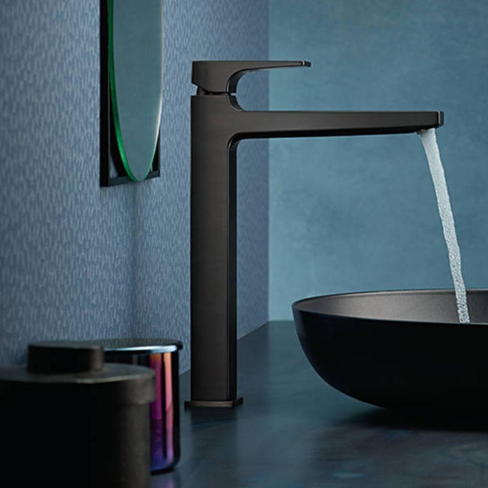Metropol 260 slavina za lavabo, brušeni crni hrom, Hansgrohe