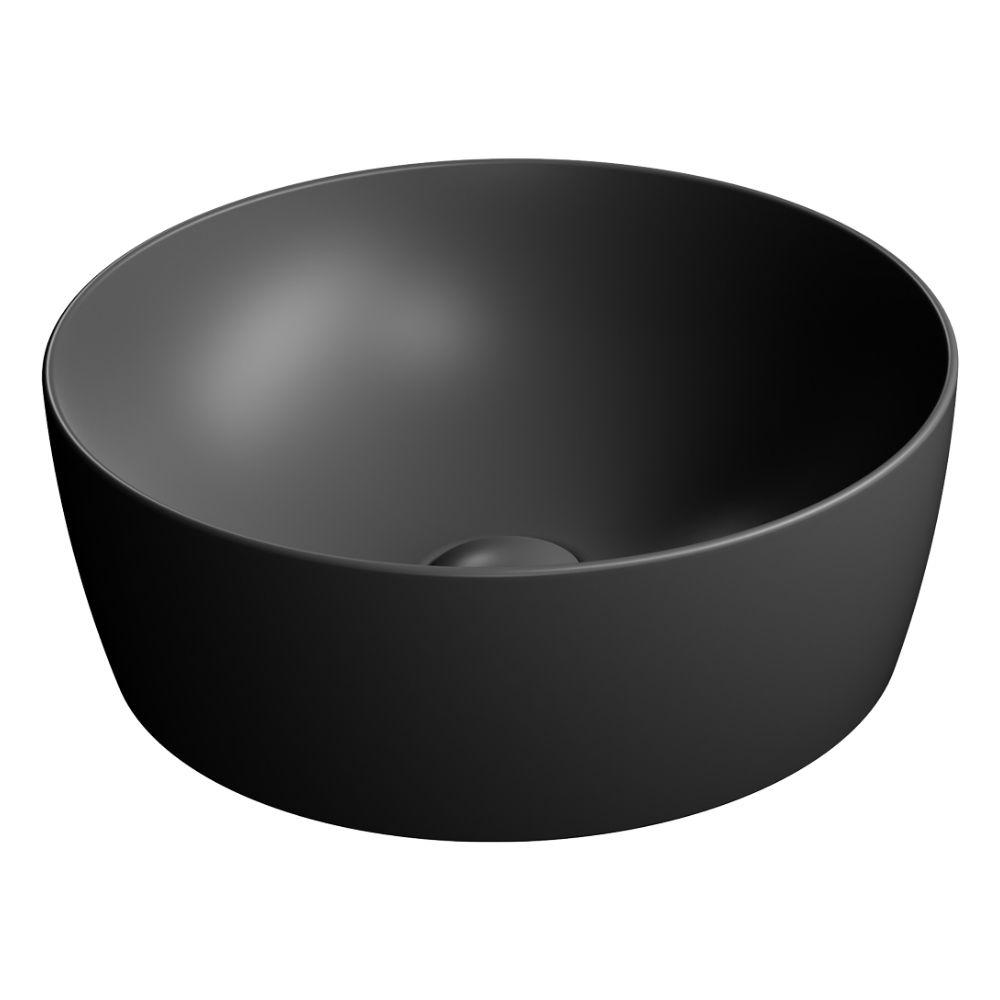 Okrugli nadgradni lavabo prečnika 40 cm, boja crna, GSI