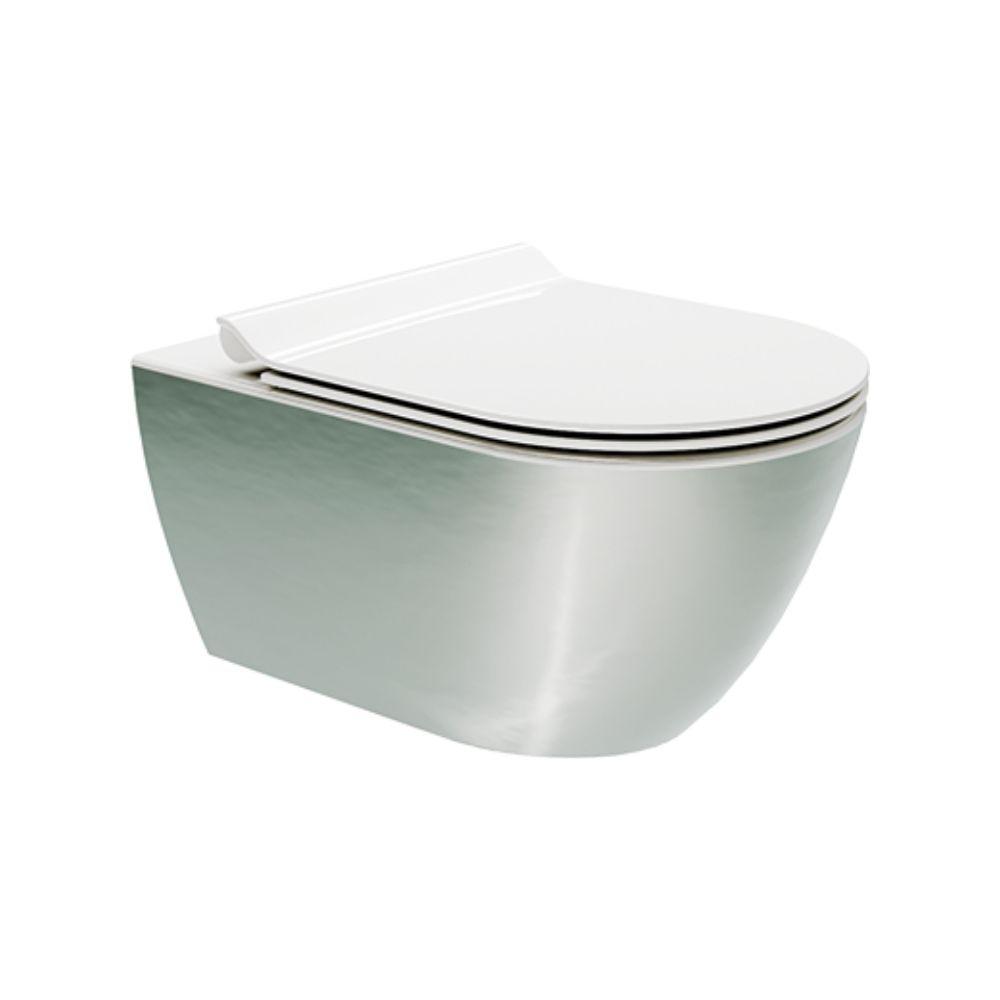 Konzolna Wc Šolja Colors Pura Platino – Bianco 55×36 Swirlflush Gsi