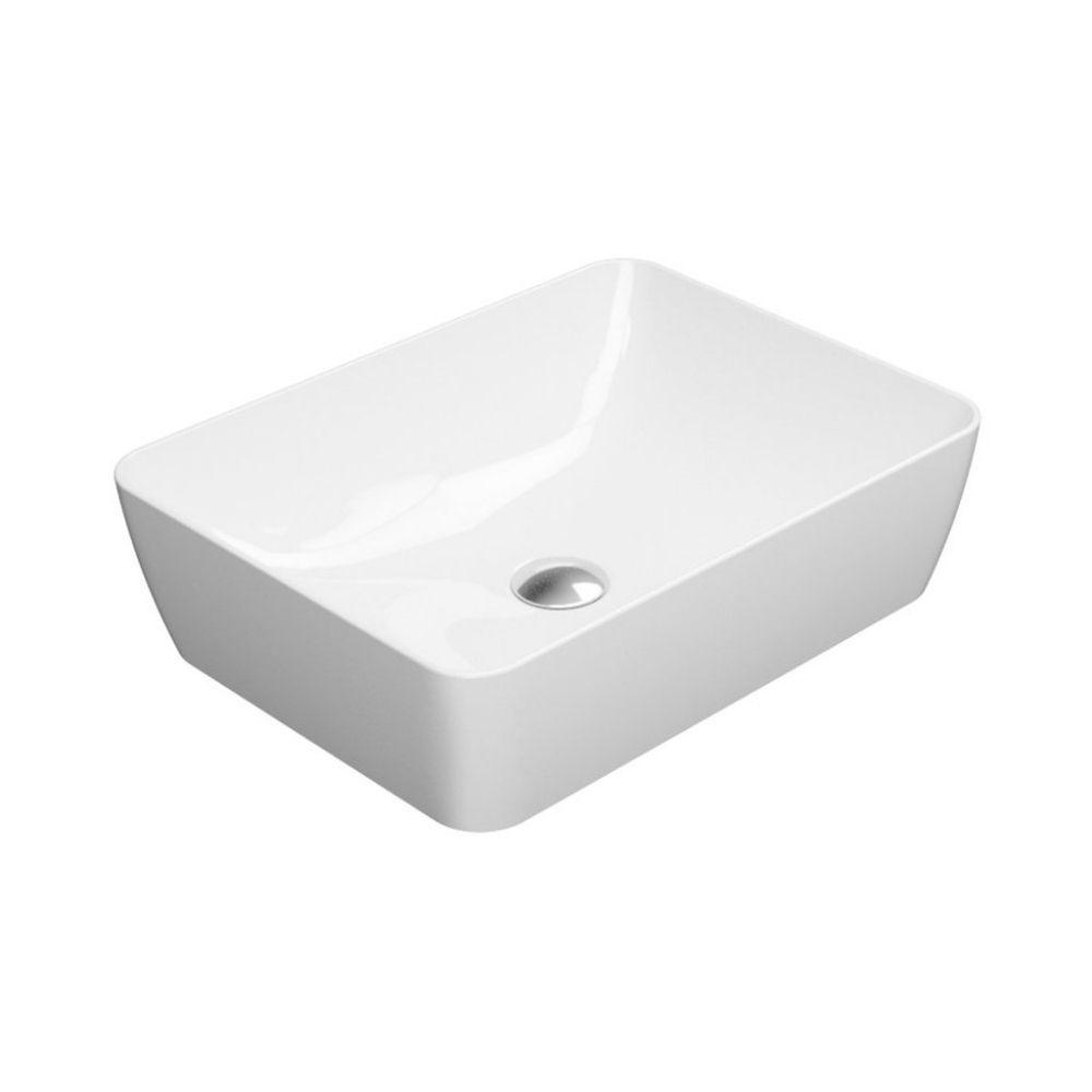 Nadgradni lavabo Sand, 50×38 cm, beli, GSI
