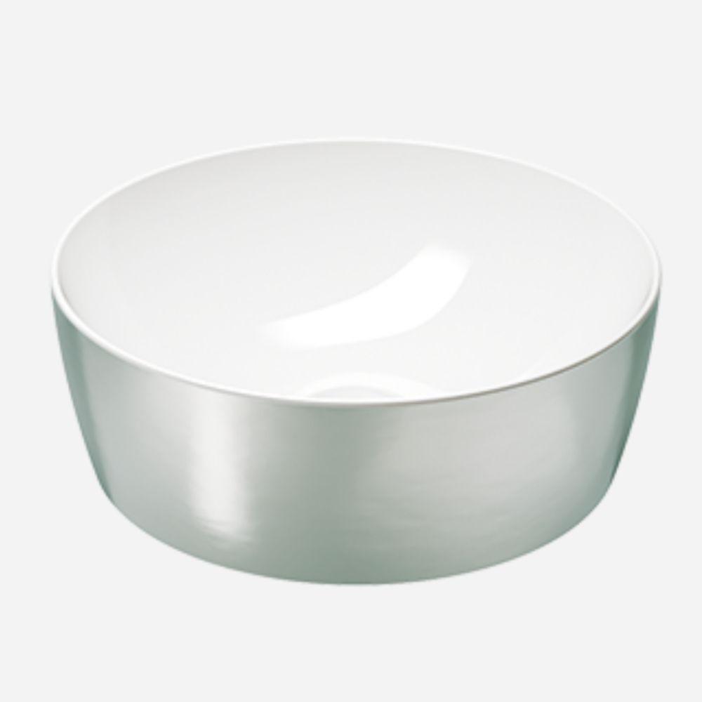 Okrugli Lavabo prečnika 40 cm, Platino- Bianco, GSI