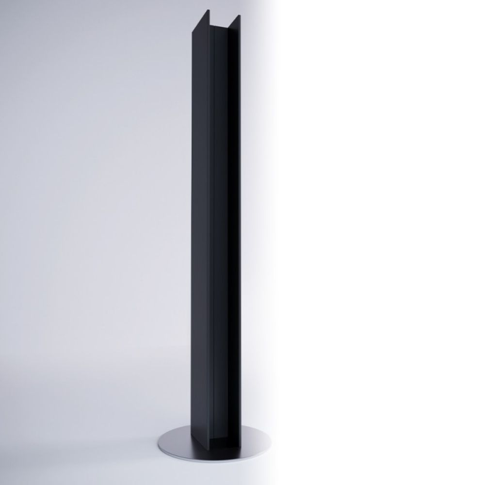 Dekorativni električni radijator Serie T, 200×23 cm, crni, Antrax