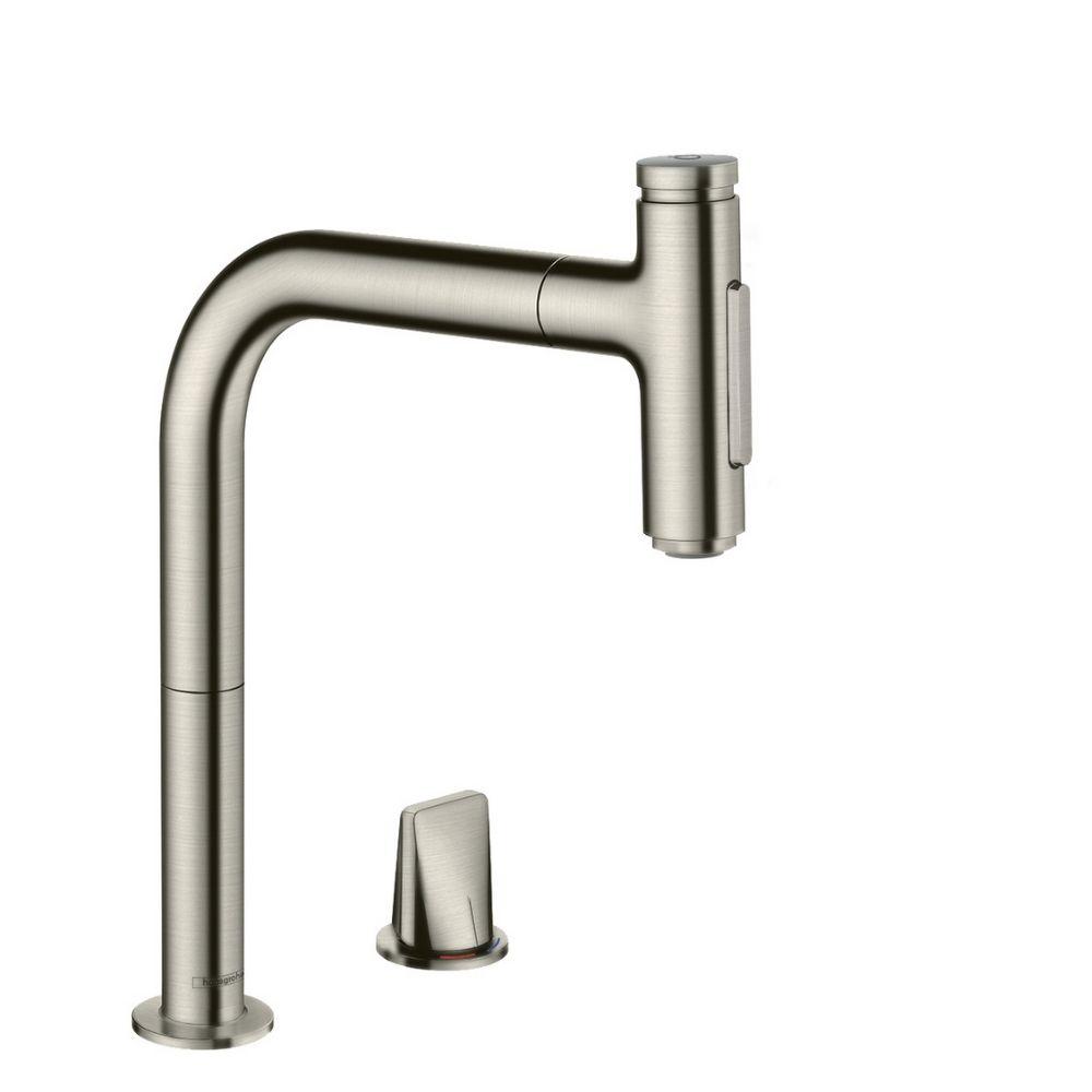 Kuhinjska slavina Metris Select M71, stainless steel Hansgrohe