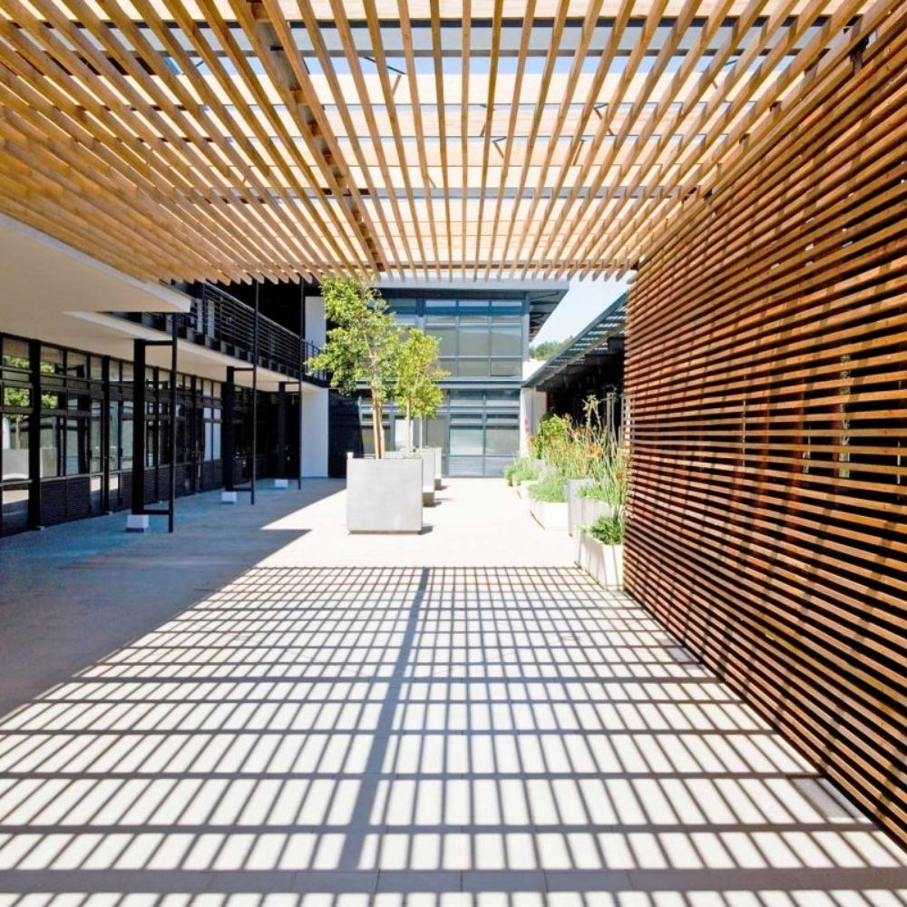 Drvena zaštita od sunca 60×42 Frangisole S Teak Deco