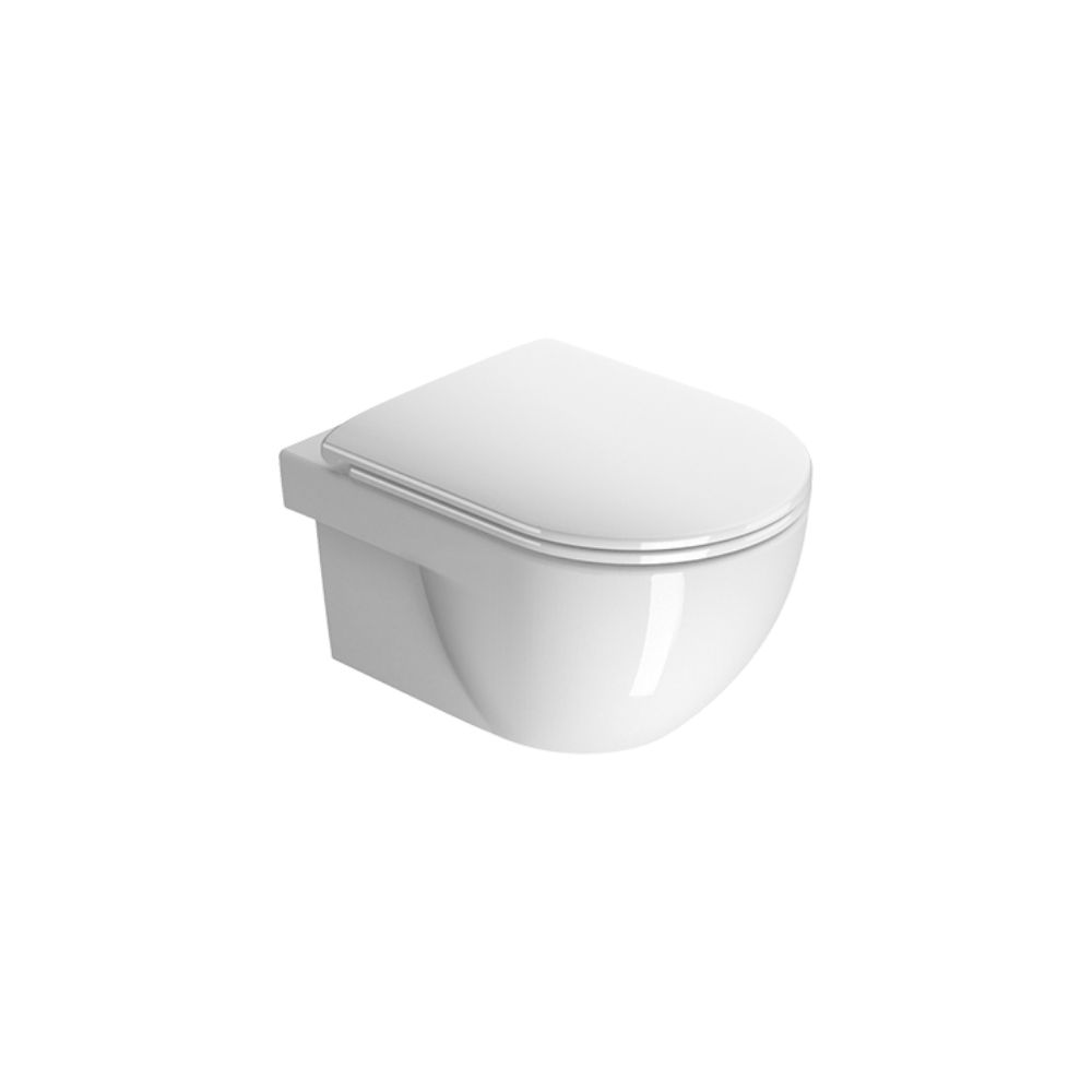 Komplet WC šolja i soft-close daska City Pro, dimenzija 52×35, bela, GSI