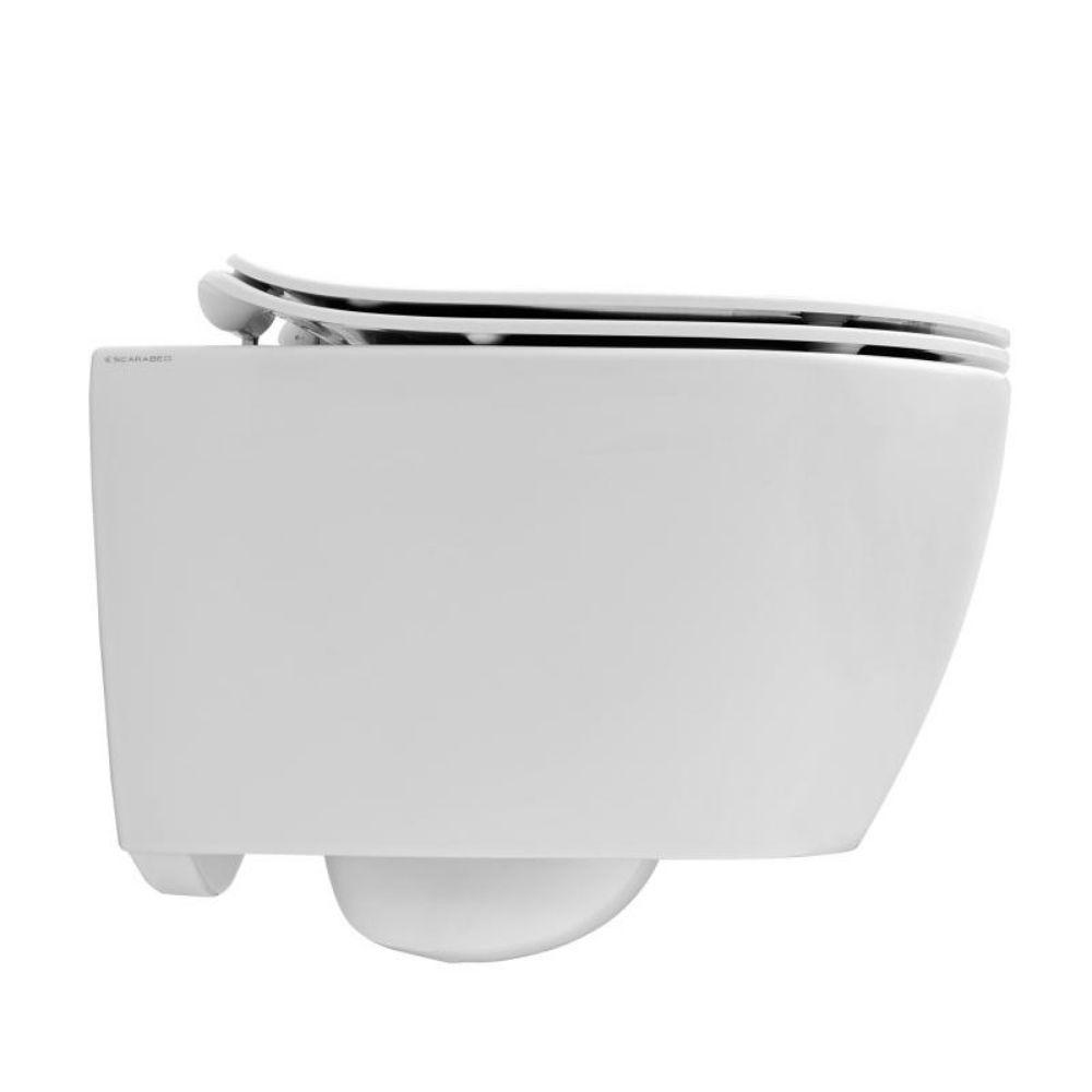 Komplet WC šolja, konzolna, Scarabeo MOON 50.5×36 sa sporospuštajućom daskom 2